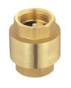 "FRL Check Valve (light) ¾"", Nickel-Platet Brass"